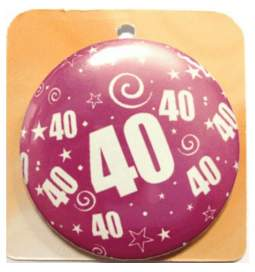 Priponka za 40 rojstni dan, Roza