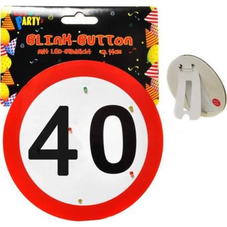 Svetleča broška za 40 rojstni dan, Stop znak