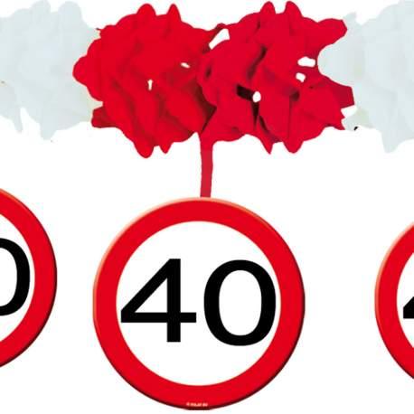 Stropni okras za 40 let, Stop znak