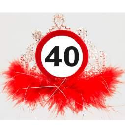 Tiara za 40. rojstni dan, Stop znak