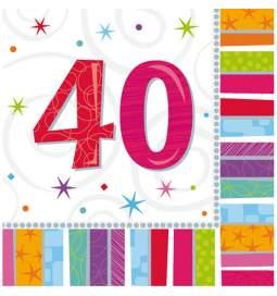 Barvni prtički za 40 rojstni dan