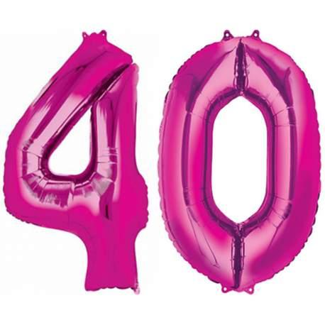 XXL balona številka 40, magenta