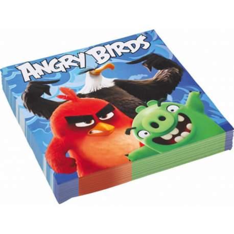 Modre serviete Angry Birds 33x33 cm, 20/1