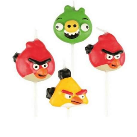 Svečke Angry Birds, 4/1