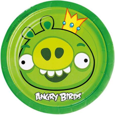 Krožniki Angry Birds 18 cm, 8/1