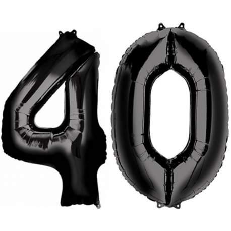 XXL balona številka 40, črna