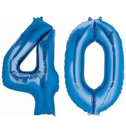 XXL balona številka 40, modra