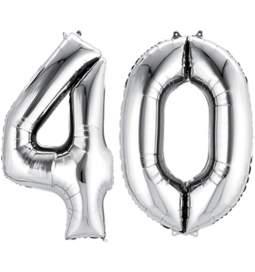 XXL balona številka 40, srebrna