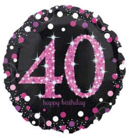 Folija balon 30 let, Happy Birthday Pink