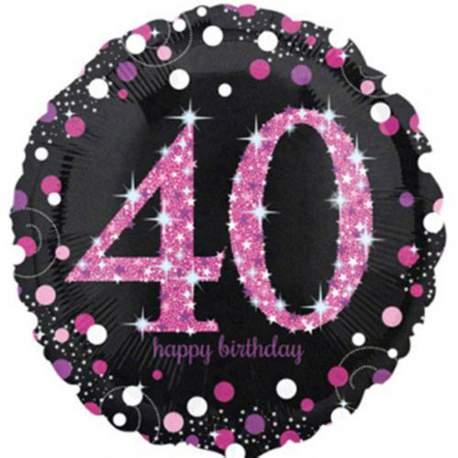 Folija balon 30 let, Happy Birthday Pink