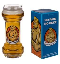 Kozarec za pivo No Pain No Beer
