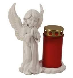 Angel s podstavkom za svečo