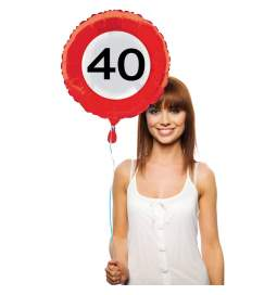 Folija balon 40 let, Stop znak