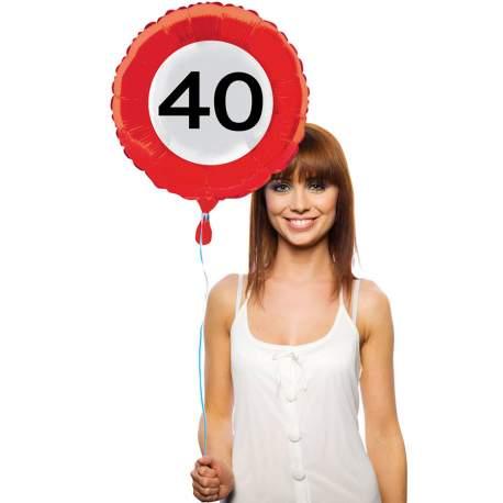 Folija balon 40 let, Stop znak