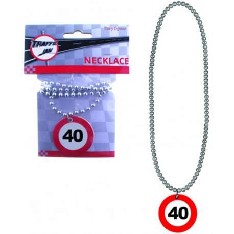 Ogrlica Stop znak za 40 rojstni dan