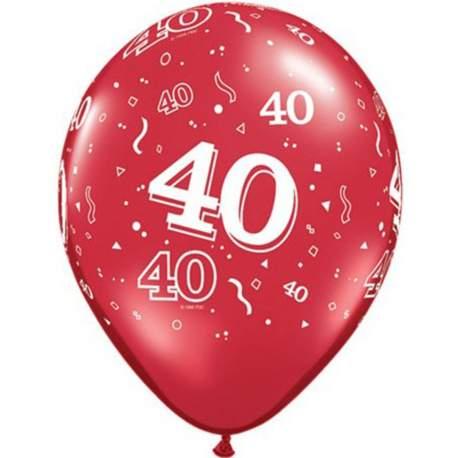 Rdeči baloni za 40 rojstni dan 10/1