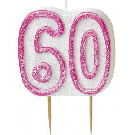 Svečka za 60. rojstni dan, Pink z bleščicami