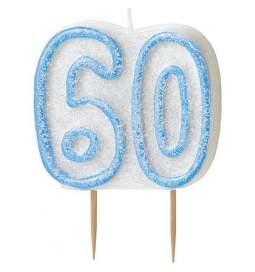 Svečka za 60. rojstni dan, Modra z bleščicami
