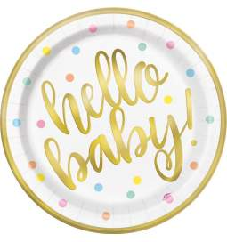 Krožniki za rojstvo Hello Baby
