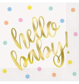Serviete za rojstvo Hello Baby