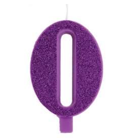 Vijolična blešečeča svečka številka 0