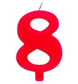 Rdeča čudežna svečka številka 8