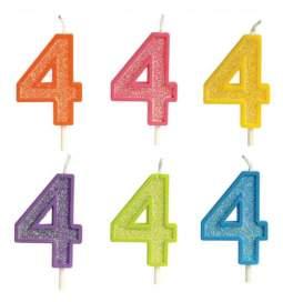 Rojstnodnevna svečka številka 4