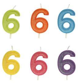 Rojstnodnevna svečka številka 6