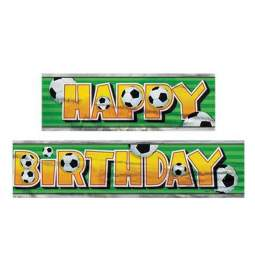Folija transparent Nogomet Happy Birthday