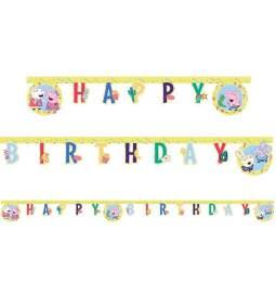 Pujsa Pepa rojstnodnevni transparent