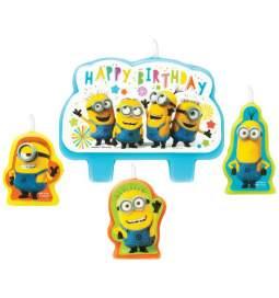 Minions rojstnodnevne svečke