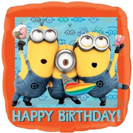 Minions folija balon Happy Birthday