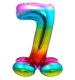 Mavrični balon številka 7 s podstavkom