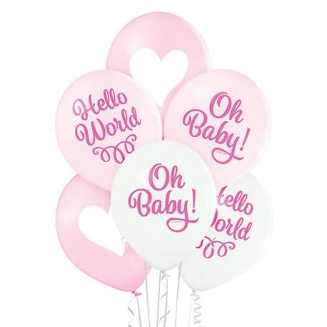 Pastelni baloni Oh Baby Girl 6/1