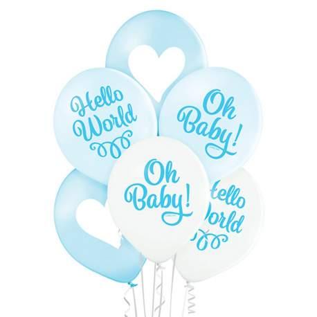 Pastelni baloni Oh Baby Boy 6/1
