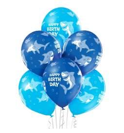 Pastelni baloni Birthday Shark 6/1