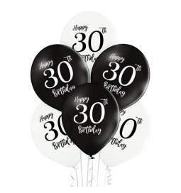 Črno beli baloni 30 rojstni dan 6/1