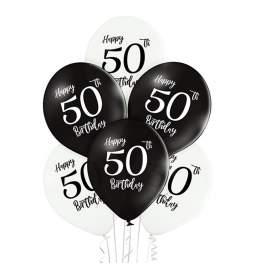 Črno beli baloni 50 rojstni dan 6/1