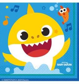 Serviete Baby Shark 33x33 cm