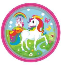 Unicorn papirnati krožniki 23 cm