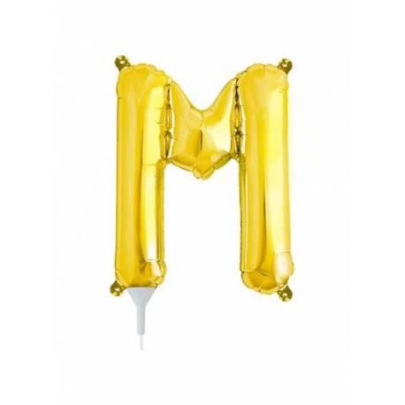 Folija balon črka M, zlata