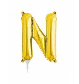 Folija balon črka N, zlata