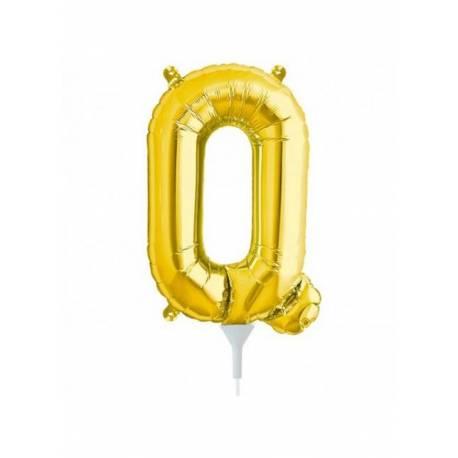 Folija balon črka Q, zlata