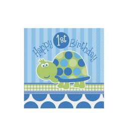 Serviete 33x33 cm, Prvi rojstni dan, Želvica