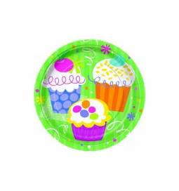 Krožniki 18 cm, Muffin party 8/1