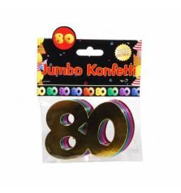Jumbo konfeti za 80 rojstni dan, pisani