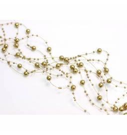 Poročna dekoracija, Girlande iz perl, zlata 2