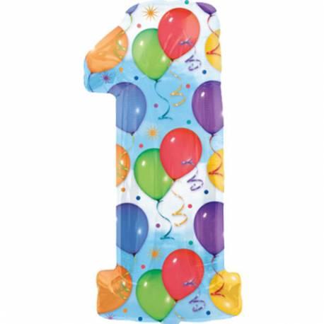 XXL balon številka 1, pisan