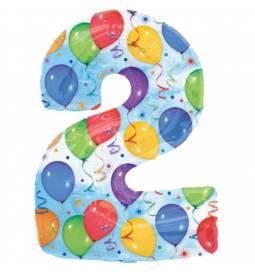 XXL balon številka 2, pisan