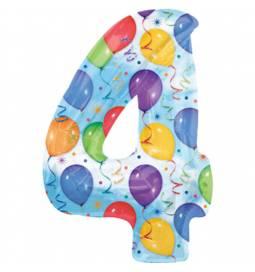 XXL balon številka 4, pisan